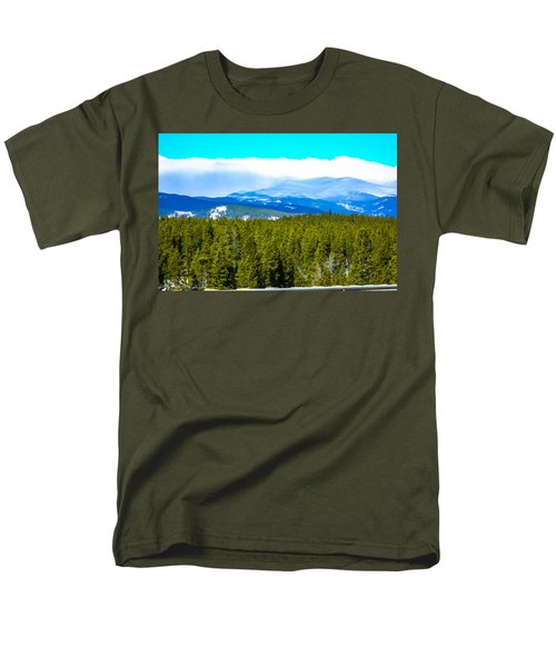 Men's T-Shirt  (Regular Fit) featuring the photograph Fog In The Rockies by Shannon Harrington