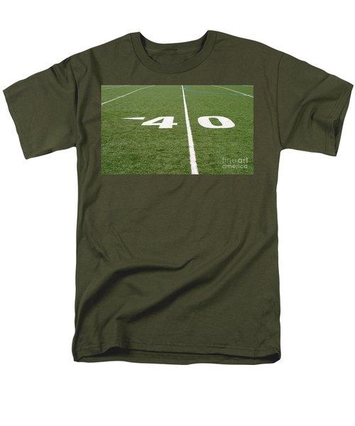Men's T-Shirt  (Regular Fit) featuring the photograph Football Field Forty by Henrik Lehnerer