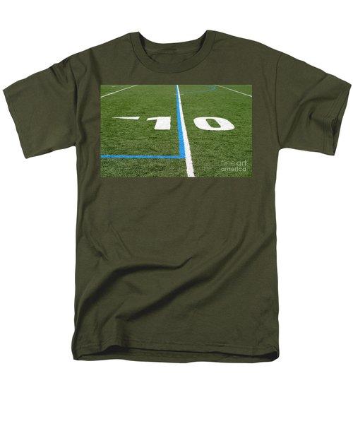 Men's T-Shirt  (Regular Fit) featuring the photograph Football Field Ten by Henrik Lehnerer