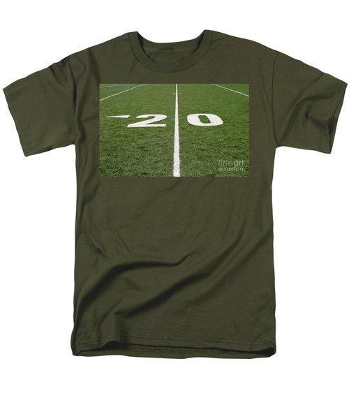Men's T-Shirt  (Regular Fit) featuring the photograph Football Field Twenty by Henrik Lehnerer