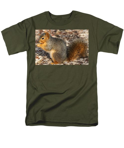 Men's T-Shirt  (Regular Fit) featuring the photograph Fruity Squirel by Elizabeth Winter