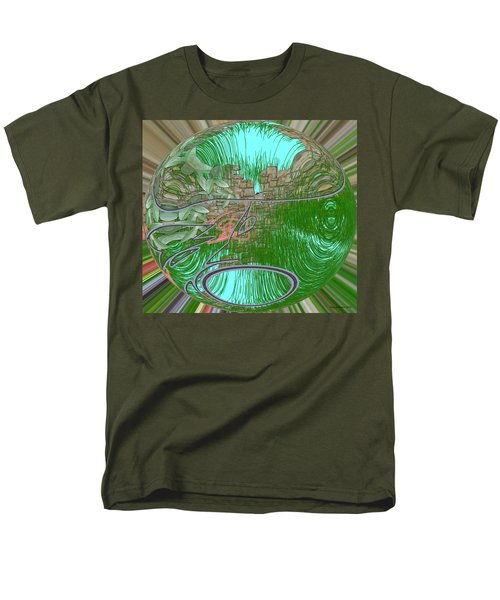 Men's T-Shirt  (Regular Fit) featuring the digital art Garden Wall by George Pedro