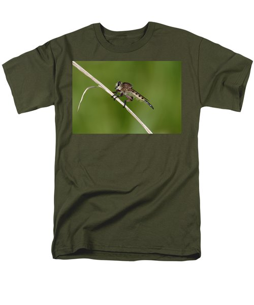 Men's T-Shirt  (Regular Fit) featuring the photograph Giant Robber Fly - Promachus Hinei by Daniel Reed