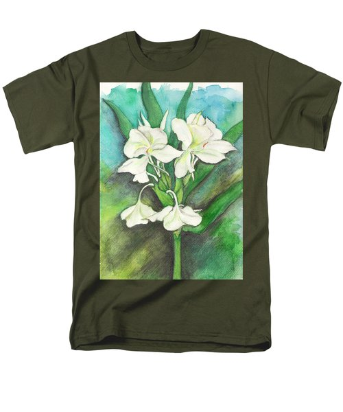 Men's T-Shirt  (Regular Fit) featuring the painting Ginger Lilies by Carla Parris