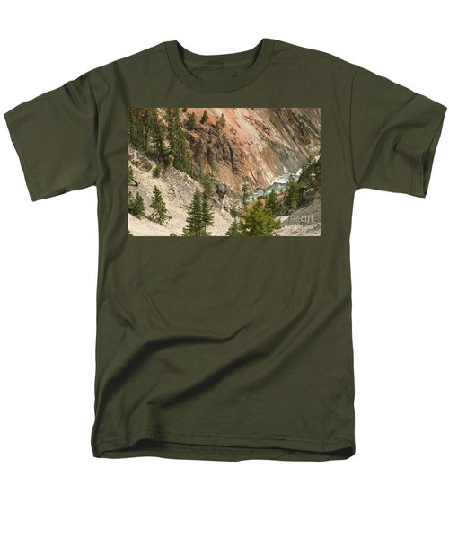 Men's T-Shirt  (Regular Fit) featuring the photograph Grand Canyon And Yellowstone River by Living Color Photography Lorraine Lynch