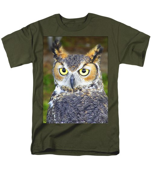 Great Horned Owl Men's T-Shirt  (Regular Fit) by Barbara Middleton