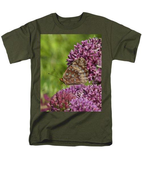 Great Spangled Fritillary Din194 Men's T-Shirt  (Regular Fit) by Gerry Gantt