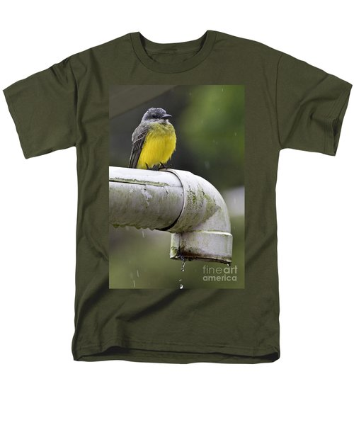 Grey-capped Flycatcher Men's T-Shirt  (Regular Fit) by Heiko Koehrer-Wagner