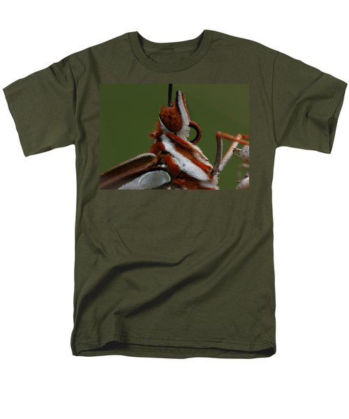 Men's T-Shirt  (Regular Fit) featuring the photograph Gulf Fritillary Butterfly Portrait by Daniel Reed