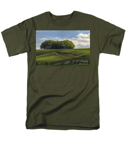 Men's T-Shirt  (Regular Fit) featuring the photograph Hackpen Hill by Clare Bambers