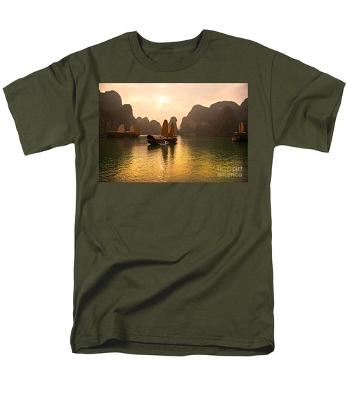Men's T-Shirt  (Regular Fit) featuring the photograph Halong Bay - Vietnam by Luciano Mortula