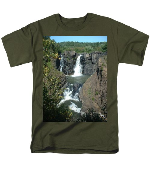 Men's T-Shirt  (Regular Fit) featuring the photograph High Falls Grand Portage by Bonfire Photography