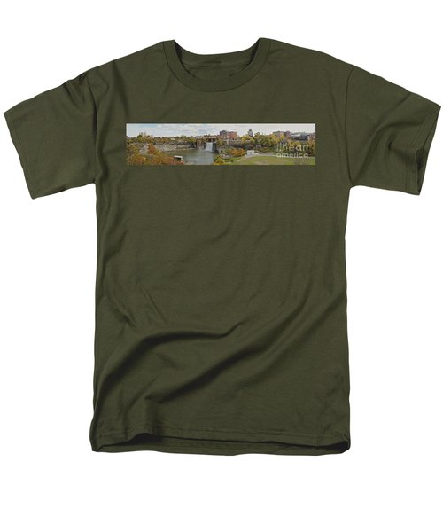 Men's T-Shirt  (Regular Fit) featuring the photograph High Falls Panorama by William Norton