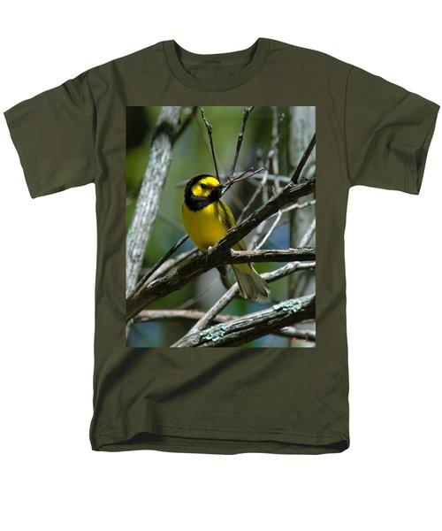 Men's T-Shirt  (Regular Fit) featuring the photograph Hooded Warbler Dsb166  by Gerry Gantt