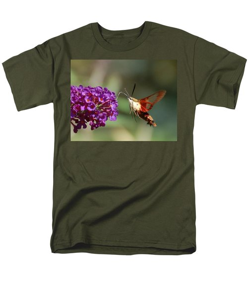 Hummingbird Moth Men's T-Shirt  (Regular Fit) by Randy J Heath