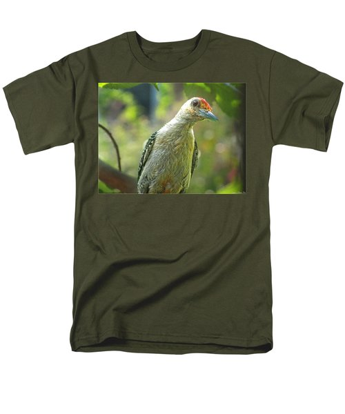 Men's T-Shirt  (Regular Fit) featuring the photograph Inquisitive Woodpecker by Debbie Portwood