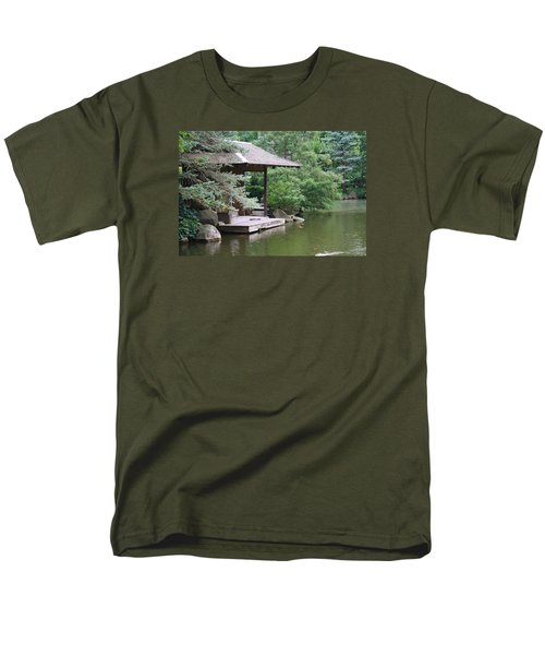Men's T-Shirt  (Regular Fit) featuring the photograph Japanese Tea House by Bruce Bley