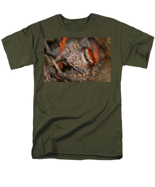 Jumping Spider Portrait Men's T-Shirt  (Regular Fit) by Daniel Reed