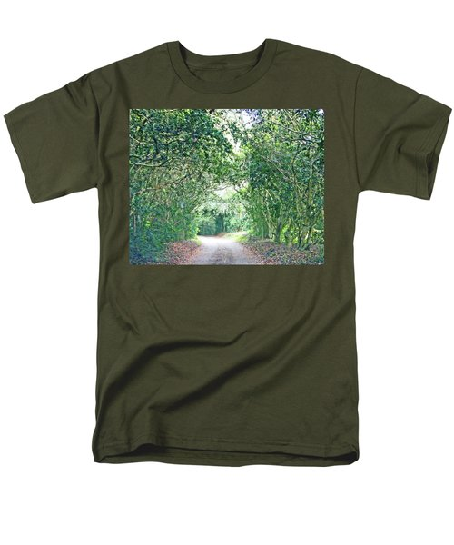 Men's T-Shirt  (Regular Fit) featuring the photograph Jungle Drive Avery Island La by Lizi Beard-Ward