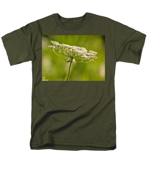 Lacy White Flower Men's T-Shirt  (Regular Fit) by JD Grimes