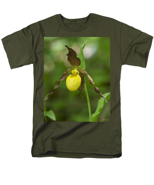 Large Yellow Lady Slipper Orchid Dspf0251 Men's T-Shirt  (Regular Fit) by Gerry Gantt