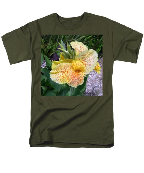 Men's T-Shirt  (Regular Fit) featuring the digital art Leopard Flower by Claude McCoy