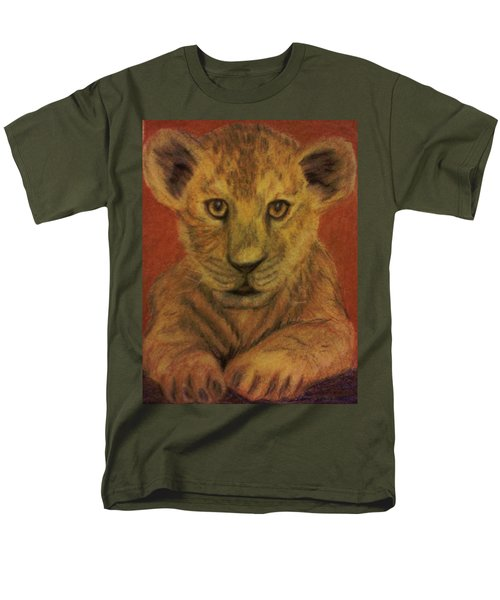 Men's T-Shirt  (Regular Fit) featuring the pastel Lion Cub by Christy Saunders Church