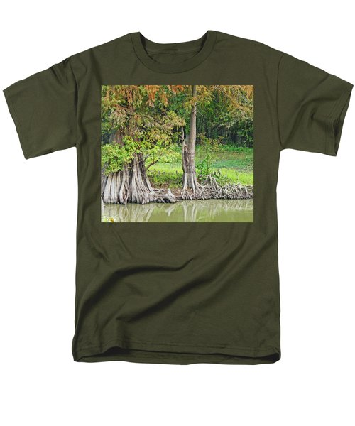 Men's T-Shirt  (Regular Fit) featuring the photograph Louisiana Cypress by Lizi Beard-Ward