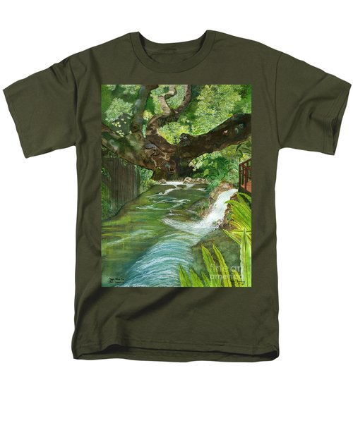 Men's T-Shirt  (Regular Fit) featuring the painting Maya Ubud Tree Bali Indonesia by Melly Terpening