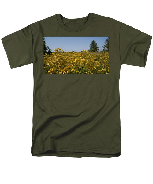 Meadow At Terapin Park Men's T-Shirt  (Regular Fit) by Charles Kraus