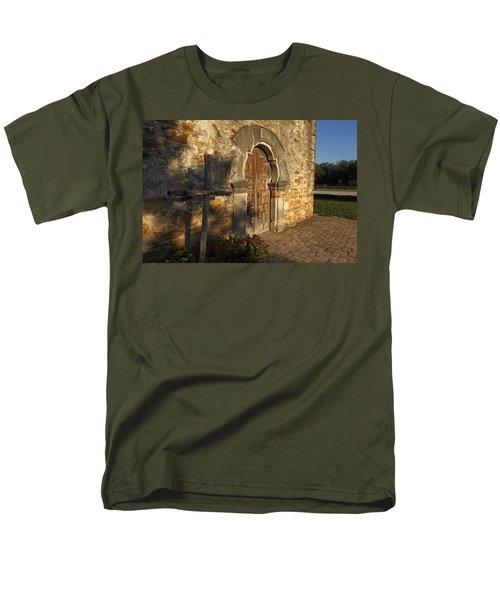Men's T-Shirt  (Regular Fit) featuring the photograph Mission Espada by Susan Rovira