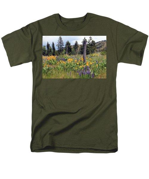 Montana Wildflowers Men's T-Shirt  (Regular Fit) by Athena Mckinzie