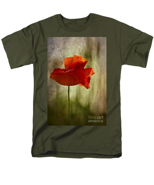 Men's T-Shirt  (Regular Fit) featuring the photograph Moody Poppy. by Clare Bambers - Bambers Images