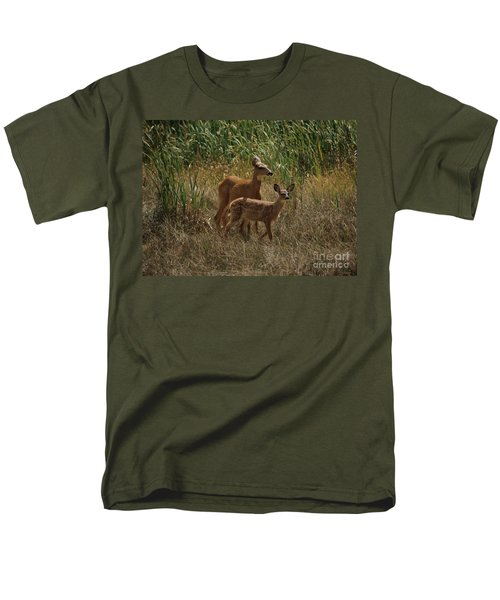 Men's T-Shirt  (Regular Fit) featuring the photograph Mount Rainier Residents by Sharon Elliott