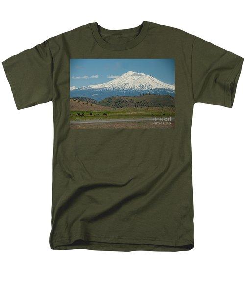 Mount Shasta Men's T-Shirt  (Regular Fit) by Carol Ailles