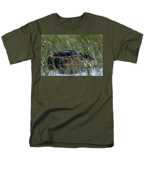 Men's T-Shirt  (Regular Fit) featuring the photograph Nesting Loon by Brent L Ander