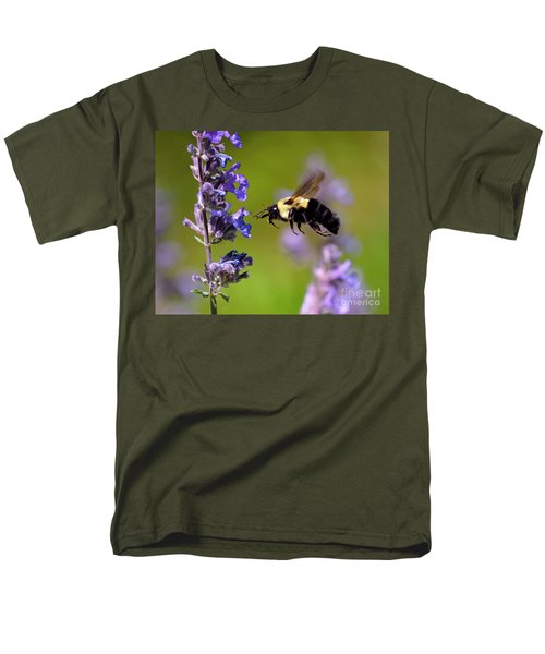 Non Stop Flight To Pollination Men's T-Shirt  (Regular Fit) by Sue Stefanowicz