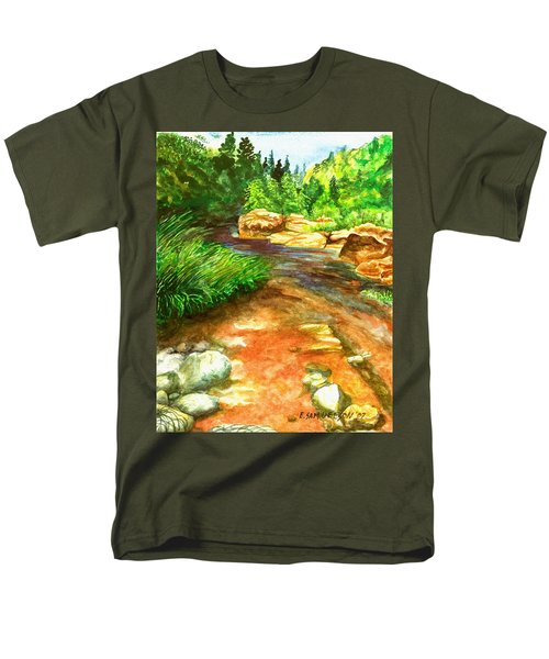 Oak Creek Red Men's T-Shirt  (Regular Fit) by Eric Samuelson