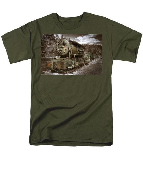 Old Mine Train Banff Men's T-Shirt  (Regular Fit) by Diane Dugas