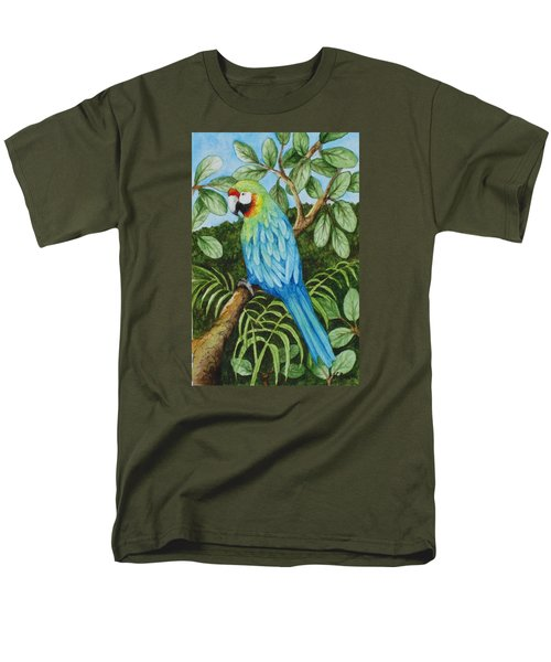 Parrot Men's T-Shirt  (Regular Fit) by Katherine Young-Beck