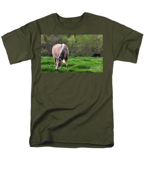 Peaceful Pasture Men's T-Shirt  (Regular Fit) by Lydia Holly