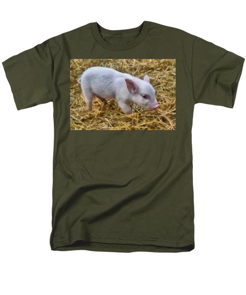 Piglet Men's T-Shirt  (Regular Fit) by Michelle Calkins