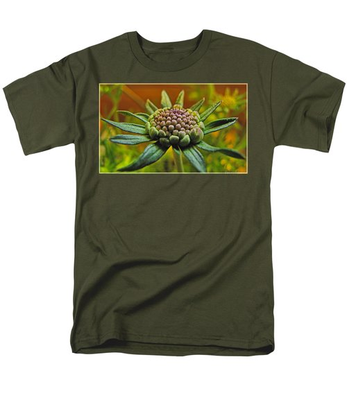 Men's T-Shirt  (Regular Fit) featuring the photograph Pinchshin Bud by Debbie Portwood