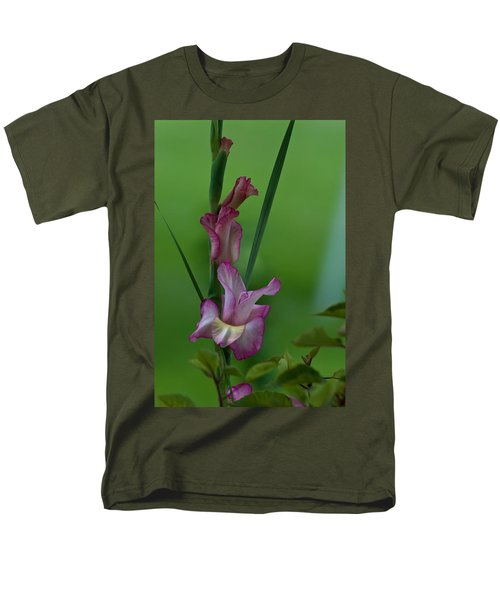 Men's T-Shirt  (Regular Fit) featuring the photograph Pink Gladiolus by Ed Gleichman