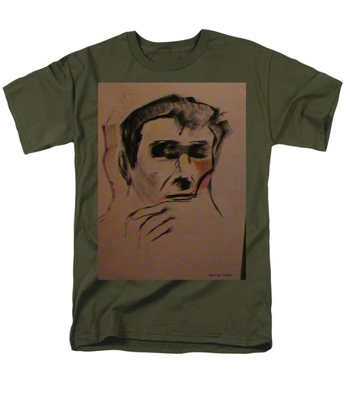 Men's T-Shirt  (Regular Fit) featuring the painting Portrait Of Frank Frazetta by George Pedro