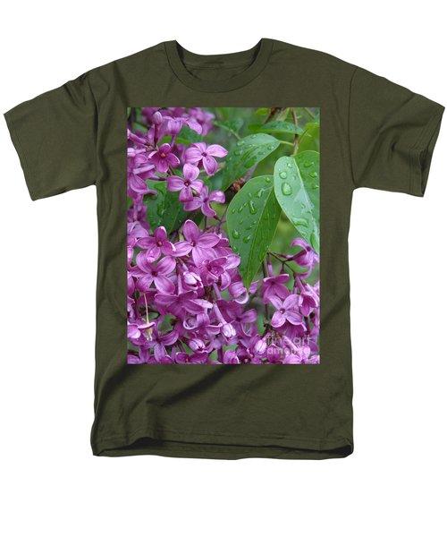 Purple Lilac Men's T-Shirt  (Regular Fit) by Laurel Best