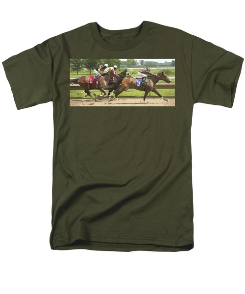 Men's T-Shirt  (Regular Fit) featuring the photograph Racetrack Views by Alice Gipson