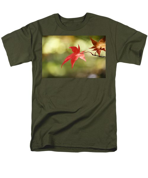 Men's T-Shirt  (Regular Fit) featuring the photograph Red Leaf. by Clare Bambers