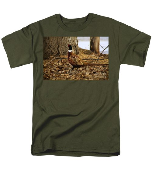 Ring-necked Pheasant Men's T-Shirt  (Regular Fit) by Alyce Taylor