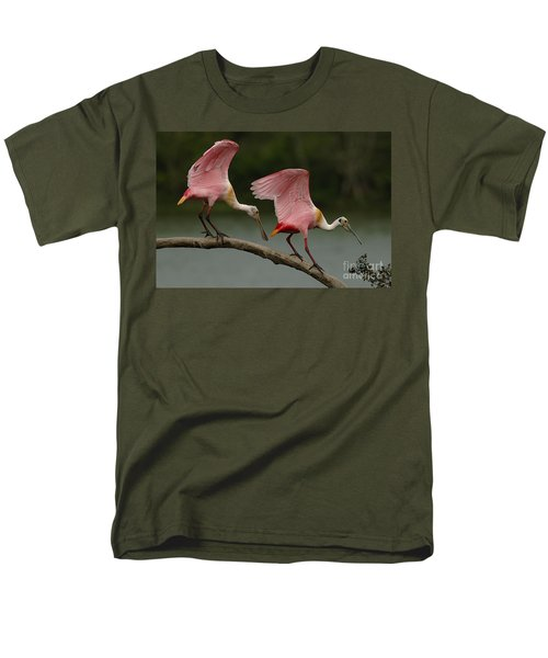 Rosiette Spoonbills Men's T-Shirt  (Regular Fit) by Bob Christopher